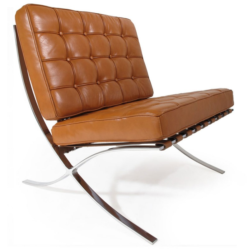 Single Barcelona chair in Cognac
